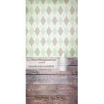 Backdrop trapezes green brown AS0083