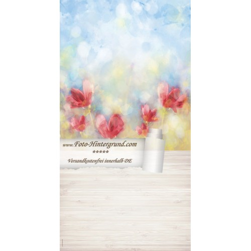 Backdrop poppies AS0134