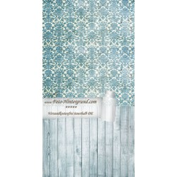Backdrop turquoise Vintage Retro AS0001