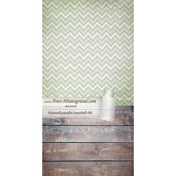 Backdrop green gray zigzags AS0082