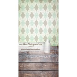 Backdrop trapezes green brown AS0083