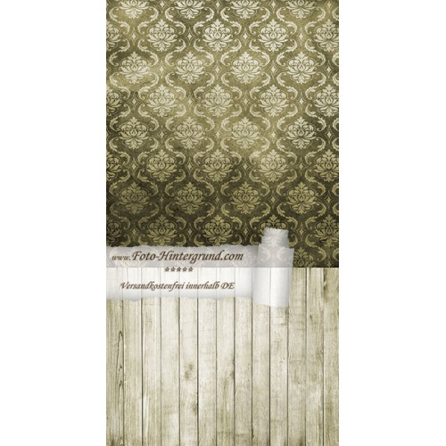 Backdrop dark green Vintage Retro AS0009