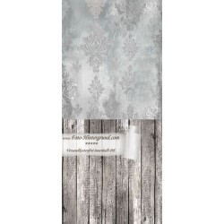 Backdrop gray ornaments AS0054 270x600